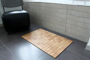 rutschfeste badematte karos farbe sand badteppich vorleger aus bambus 50x80cm ebay. Black Bedroom Furniture Sets. Home Design Ideas