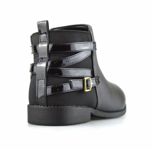 Girls Kids Childrens Infants Zip Up Casual School Ankle Biker Boots Shoes Size