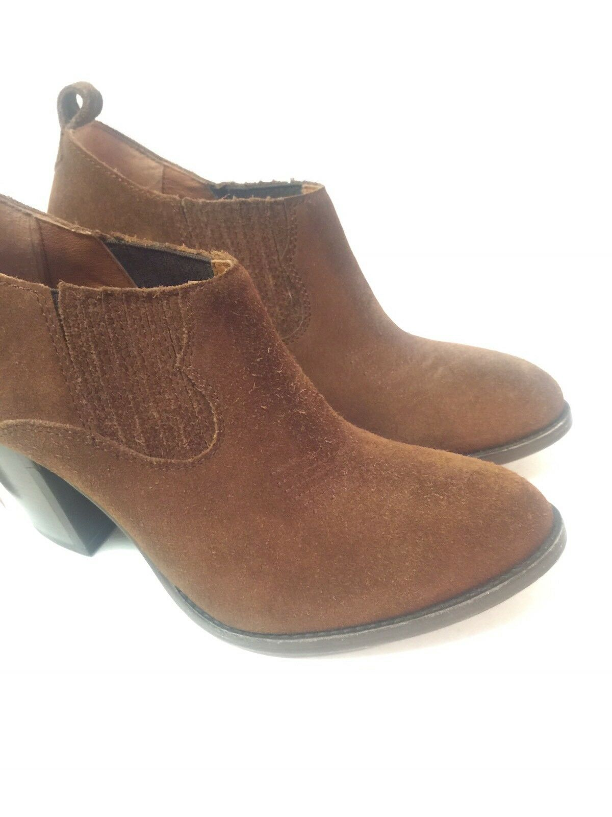 FRYE Ilana Shootie Wood Brown Leather Leather Leather Suede Boots Slip On Ankle Booties W6.5 NEW dbe85c