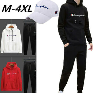 Herren Trainingsanzug Sweatshirt Lange Jogging Hosen Gym Sportanzug Outfits Set