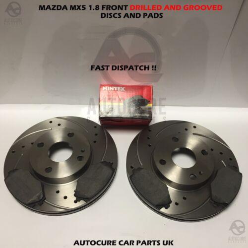 Mazda MX5 1.8 avant perforés et rainurés disques et mintex pads 1994-2000