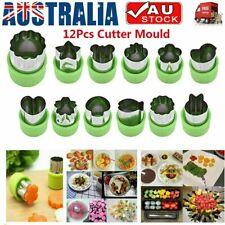 12x Stainless Steel Mini Fruit Vegetable Cookie Shape Cutter Mould Food Mold UK