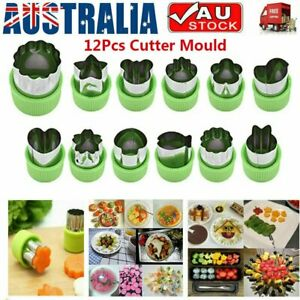 12Pcs Stainless Steel Mini Fruit Vegetable Cookie Shape Cutter Mould Food Mold~M