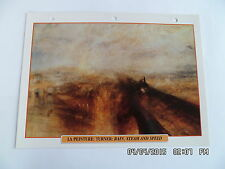 CARTE FICHE TRAIN LA PEINTURE : TURNER : RAIN, STEAM AND SPEED 1844
