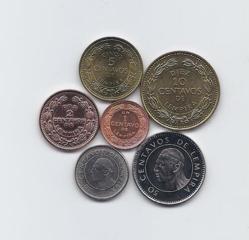HONDURAS 6 COINS HIGH GRADE SET WITH 1 2 5 10 20 50 CENTAVOS