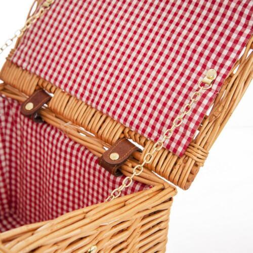 ORION PICKNICKKORB Weidenkorb Bügelkorb aus Weide verschließbar