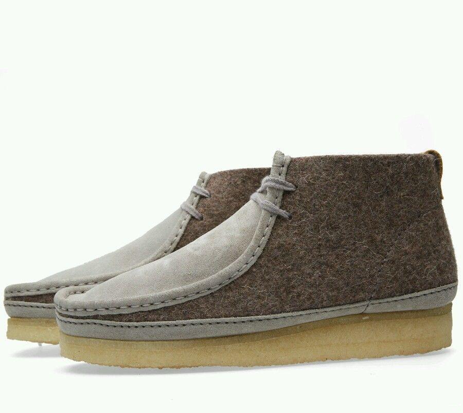Clarks Original für Herren x Wallabee Stiefel dunkel grau Filz