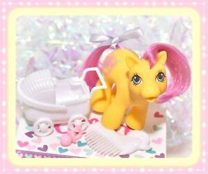 ❤️My Little Pony MLP G1 Vtg BABY FLICKER Drink 'n Wet ORIGINAL White DUCK COMB❤️