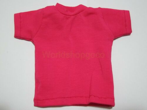"""1//6 Scale Tee Hot Rose-carmine Short Sleeves T-Shirt For 12/"""" Action Figure Toys"""
