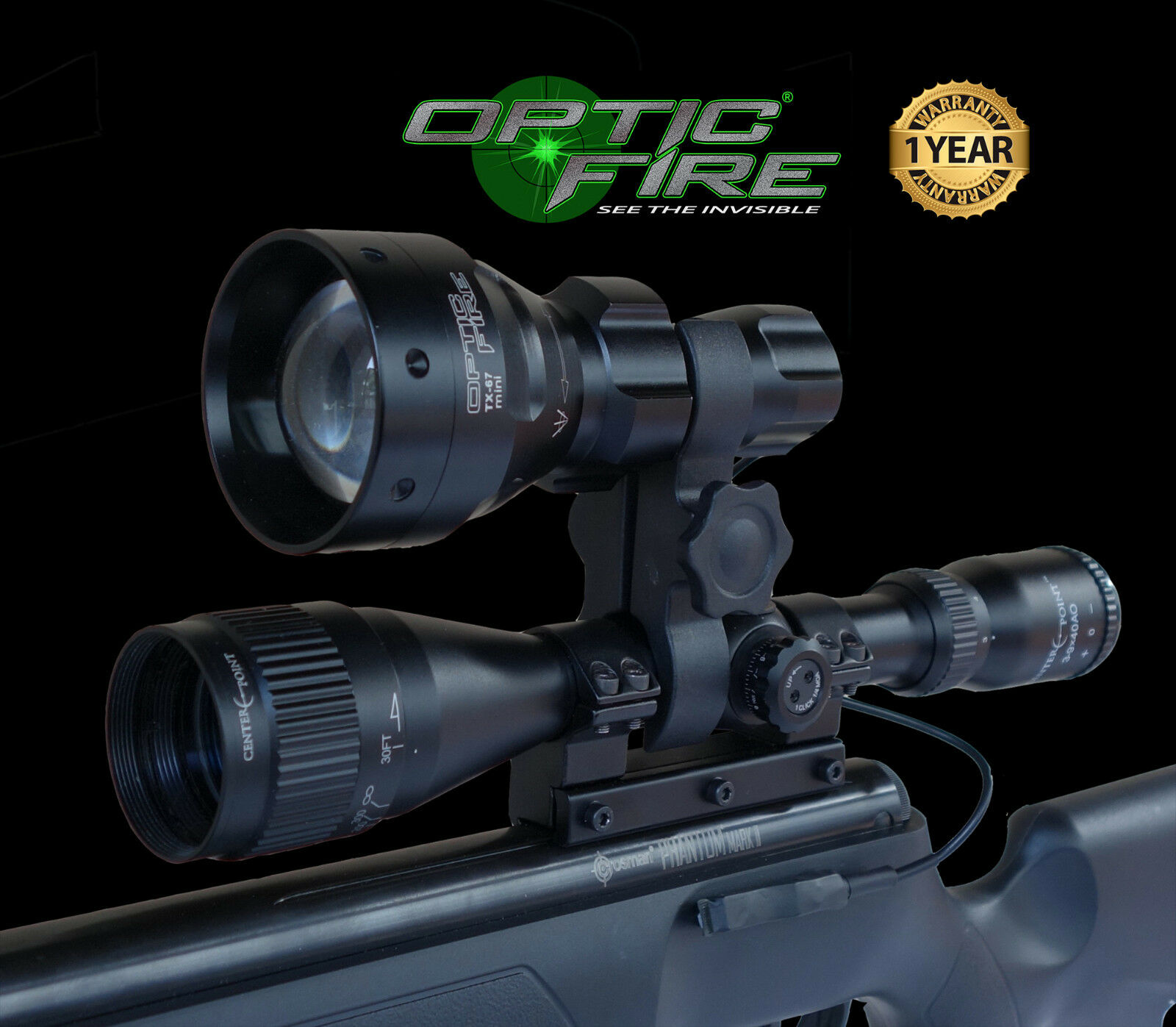Opticfire® TX-67 T67 mini Infrared scope lamp night vision torch IR add-on kit