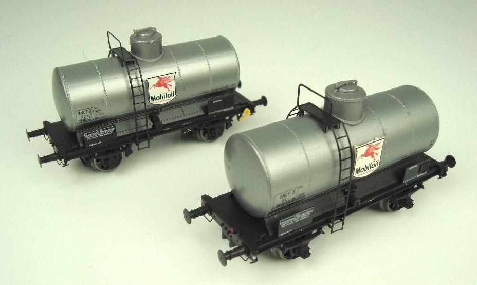 Ls Models 30434 set 2x SNCF 2 ejes vagones ocem 19 Mobiloil argento ep3 nuevo