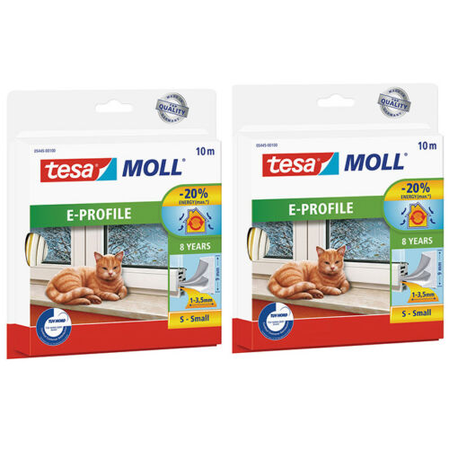 E-Profil 2 x tesamoll Gummidichtung für Fenster und Türen