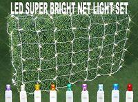 Led Outdoor Christmas Net Mesh Bush Curtain String Lights -set Of 100 Net Lights