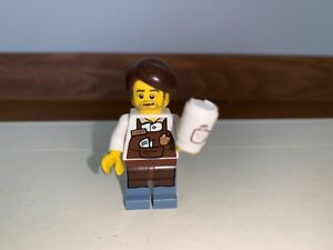LARRY THE BARISTA ~ NEW SEALED! The LEGO Movie-Collectible Minifigure