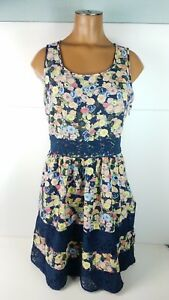 Womens-Lauren-Conrad-Sheath-Dress-Floral-Lace-Sleeveless-Cute-Fit-Flare-Size-8