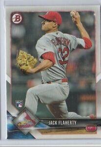 2018 Bowman Baseball RC #78 Jack Flaherty St. Louis Cardinals Rookie Card