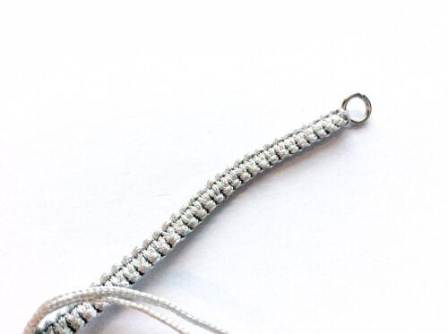 Woven finding for jewellery making Braided friendship bracelet strap