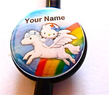 ID STETHOSCOPE NAME TAG NURSE HELLO KITTY & UNICORN MEDICAL, DOCTOR,RN,NICU,TECH