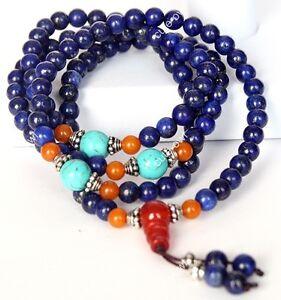 Tibet-Buddhism-6mm-Lapis-Lazuli-108-Prayer-Beads-Mala-Bracelet-Amulet