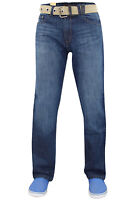 New Mens Basic Heavy Duty Cotton Regular Fit Straight Leg Denim Jeans