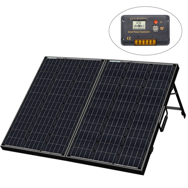 120W 12V Waterproof Folding Solar Panel Complete Kit for Outdoor Travel Camping