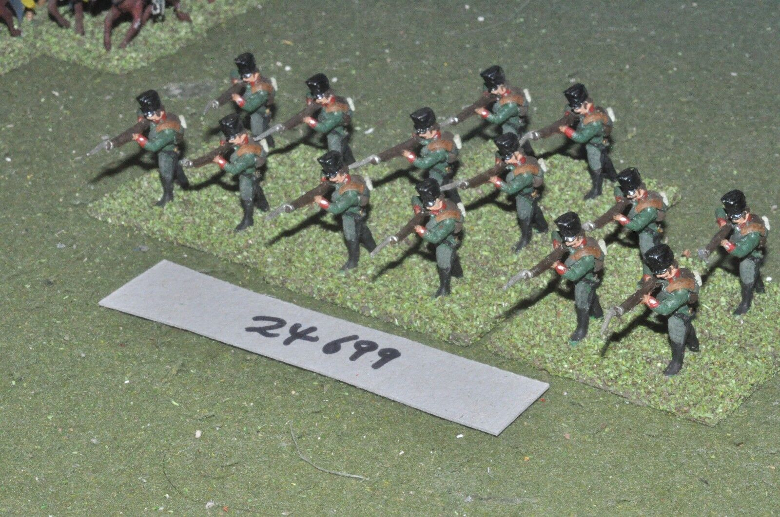 25mm napoleonic   prussian - jagers 14 figures - inf (24699)