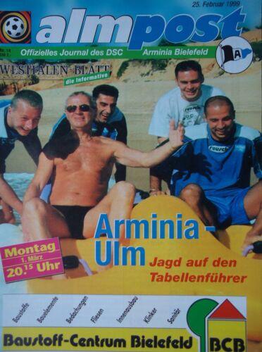 Programm 1998//99 Arminia Bielefeld SSV Ulm 1846