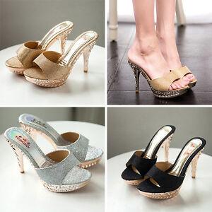 Women-Summer-Slides-High-Heel-Stilettos-Open-Toe-Slippers-Bling-Platform-Sandals