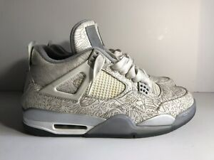 premium selection 80c59 559bd Image is loading Nike-Air-Jordan-4-IV-Retro-Laser-White-