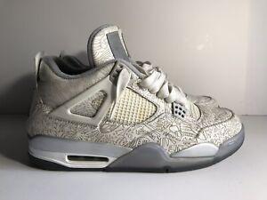 premium selection f01ba 65f5b Image is loading Nike-Air-Jordan-4-IV-Retro-Laser-White-