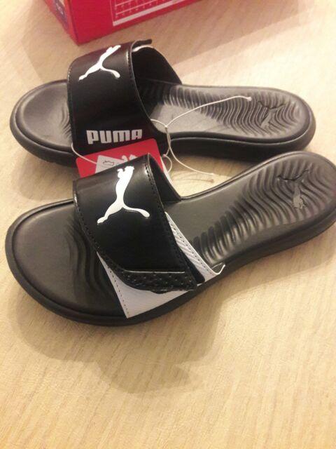 8636689f20df PUMA Women s Surfcat Slide Slip on Sandals Black   White for sale ...
