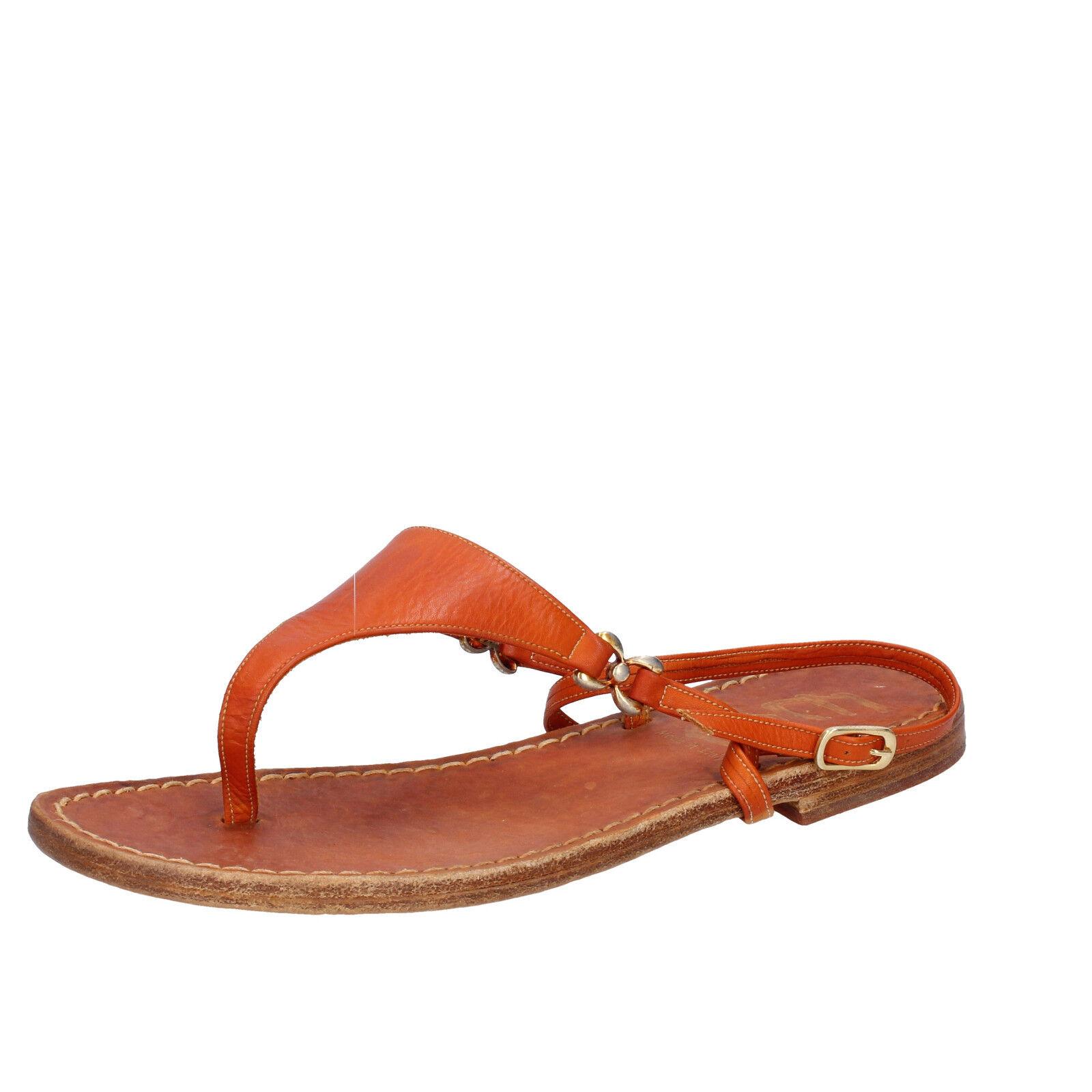 Zapatos para para para mujer Eddy Daniele 4 (EU 37) Sandalias De Cuero Naranja AW402-37  artículos novedosos