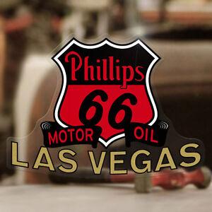 "Phillips 66 Las Vegas sticker decal vintage rat hot rod rat old school 5/"""