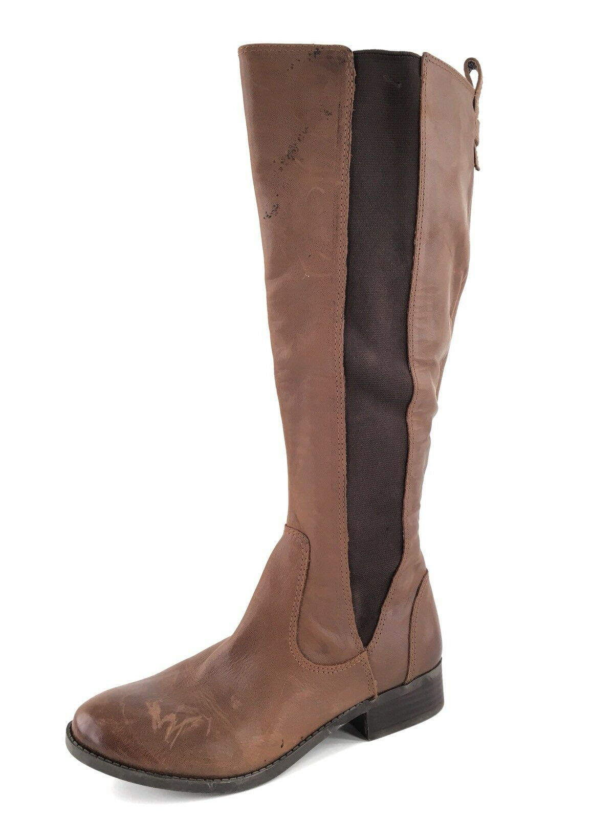 Jessica Simpson Radforde 2 Brown Leather Stretch Riding Boots Womens Size 7 M