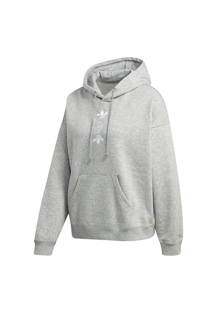 Adidas Originals Capuche Femmes Lrg Logo Hoodie Fs7221 Gris-r Damen Lrg Logo Hoodie Fs7221 Grau Renforcement Des Nerfs Et Des Os