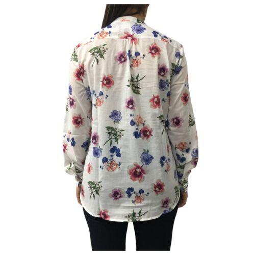 Bianca 100 Camicia Cotone And fiori Modello D774e846l Donna Z7wxqH5B