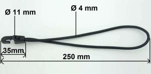 100 x Spanngummi mit Haken 25 cm Ø4mm GRAU Gummi Planenspanner Expander Spannfix