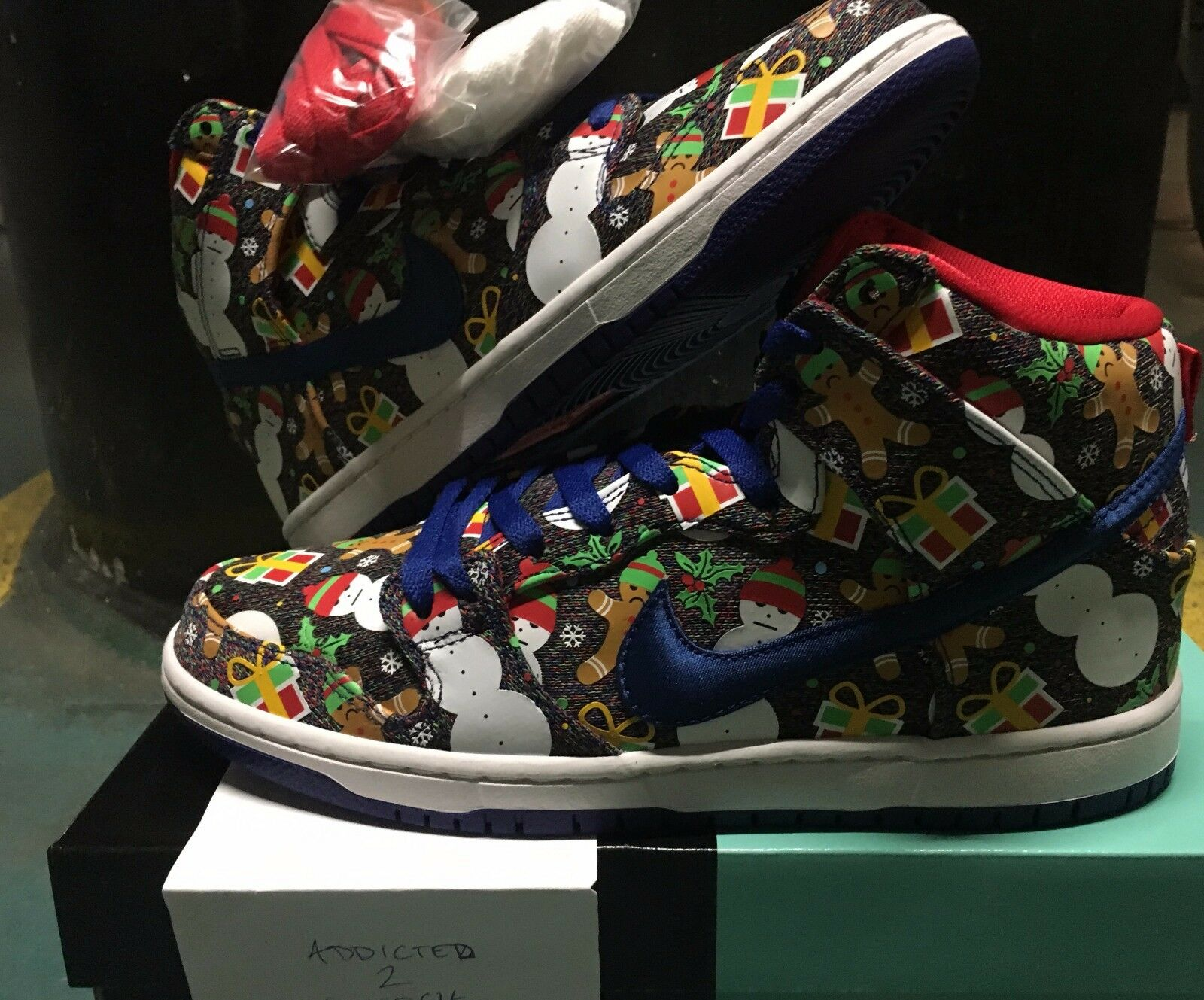 Nike SB Dunk High Pro Ugly Sweater Concepts 881758?-?446 9.5 US qs what the