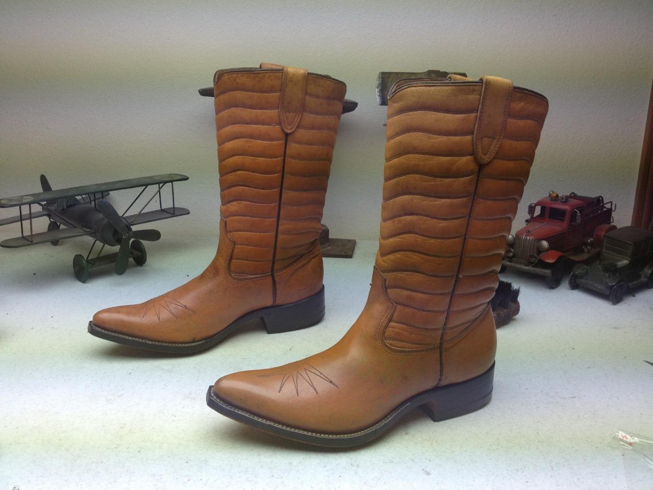Vintage JOHNNIE WALKER Marrón Hecho en EE. UU. ingeniero botas D