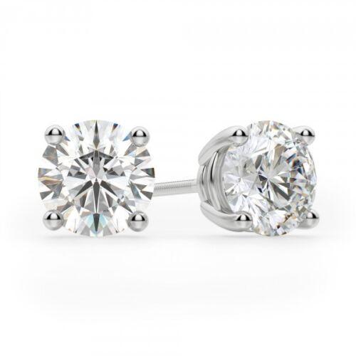 14k or Blanc Labo Diamant Boucle d/'oreille à Clous pour repousser .12 ct