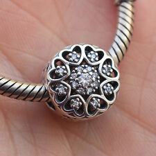 authentic S925 sterling silver bead clear crystal CZ charm fit European bracelet