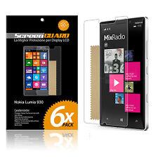 6 PELLICOLE per NOKIA LUMIA 930 PROTEGGI SALVA DISPLAY PROTETTIVA LCD SCHERMO
