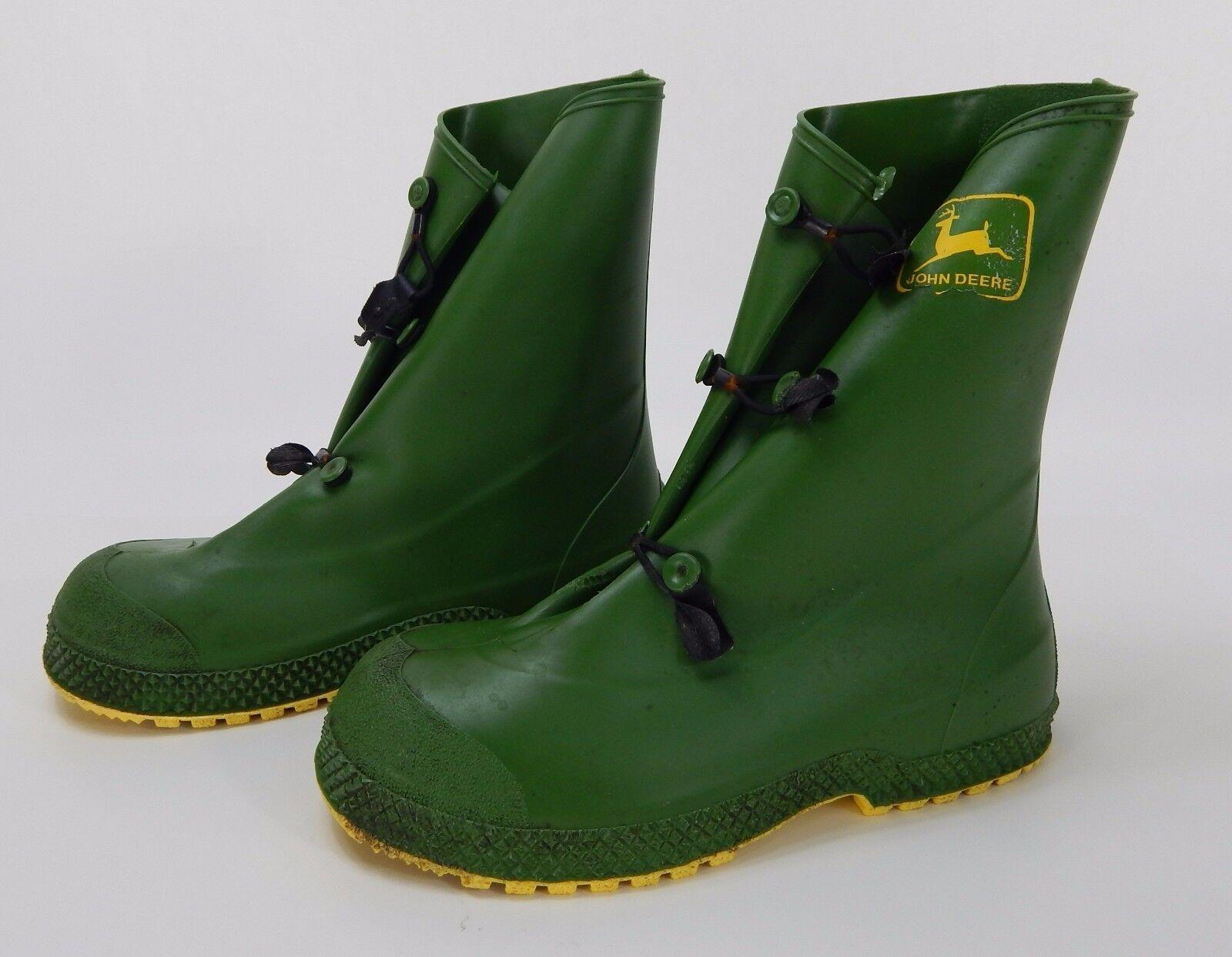 John Deere Rubber Rain Sz Stivali Made in USA Sz Rain  6-8 355a29