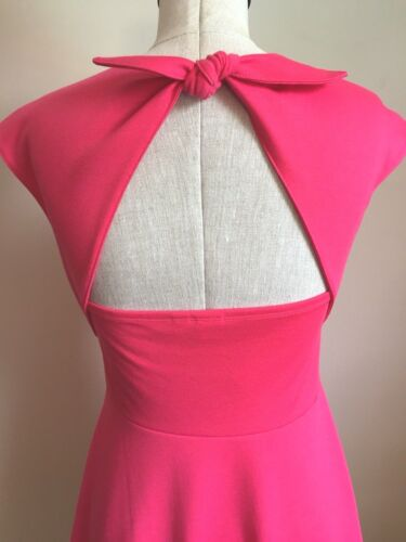 Gap Cap-Sleeve Coral Rose Fit and Flare Ponte Dress Size 2 12 14 18