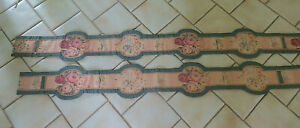 Antique-Victorian-Pair-Of-Lined-Valances-Beautifully-Made-62-034-amp-68-034-x-7-1-2-034