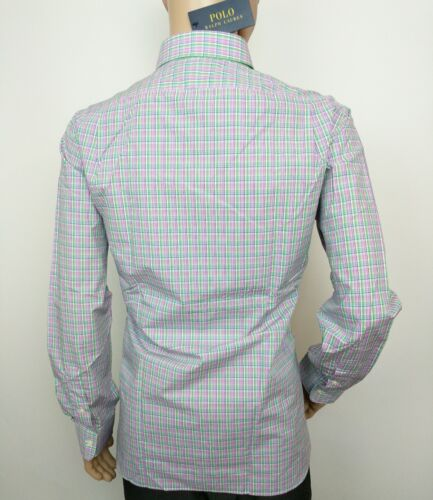Rrp£110 17 Check Ralph Tartan Polo Xl Uk New 5 Shirt Fit Lauren 16 L Slim wYqPUYpx6