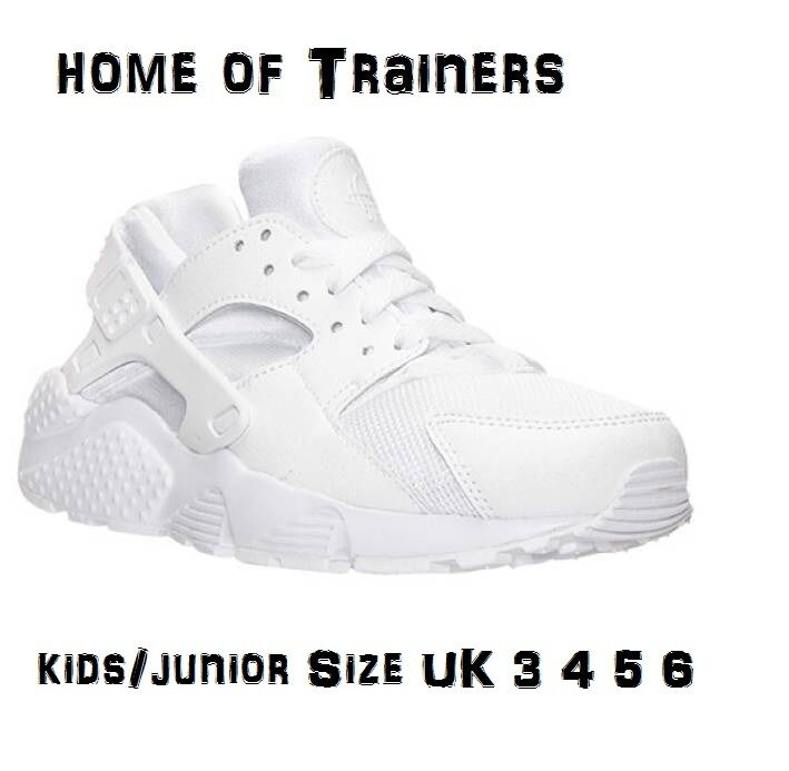 Nike Air Huarache(GS) Triple White Junior/Kids Trainers Size