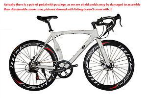 Road Bike Cycling 7 Speed 26 Inch/700CC 60mm White/ Men's / Women's SHIMANO@