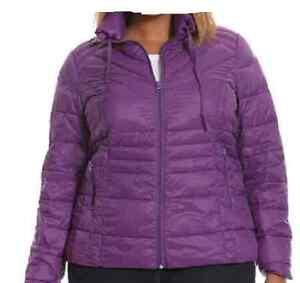 Pretty Bag Lane Bryant Long Packable Jacket Størrelse W Puffer 22 24 Purple Sleeved FOOqfx5H