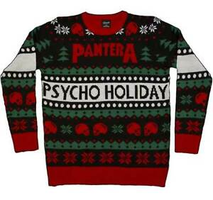 Band Ugly Christmas Sweaters.Details About Pantera Ugly Sweater Christmas Xmas Holiday Winter Music Band Rock L S Shirt
